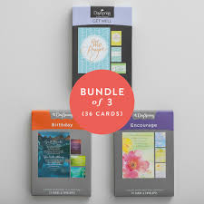 get well birthday bundle of 3 boxed cards