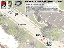 Crime Spot Map Map The Michael Brown Shooting Scene Stltoday Com