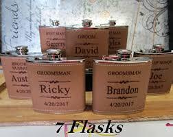 Bride And Groom Flasks Invitation Flask