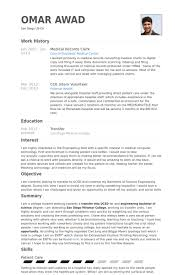 Clerical Resume Sample by Medical Records Clerk Resume Samples Visualcv Resume Samples