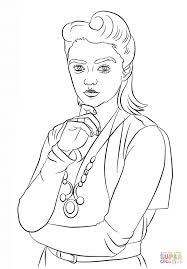 ashildr from doctor who coloring page free printable coloring pages