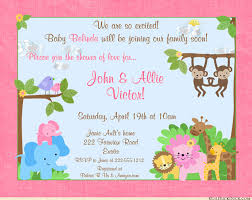 girl baby shower invitations happy pink jungle girl shower of cards coming joyous