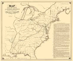 United States Map With Lakes And Rivers by Old Map Baltimore U0026 Ohio Railroad With Connections 1840