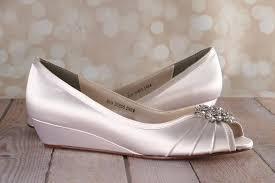 wedding shoes kitten heel ivory kitten heel wedge wedding shoes with classic cluster ellie