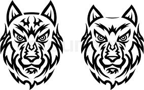 tribal wolf stock vector colourbox