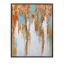 deniz framed oil painting we love this color combo teal gold
