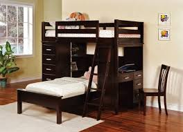 Metal Frame Loft Bed With Desk Full Size Loft Bed With Desk And Storage Brown Wooden Laminated