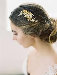 decorative hair combs gold leaves bridal comb la wedding accessories