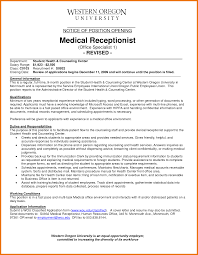 Resume Typing Services Optometrist Receptionist Resume Resume For Your Job Application