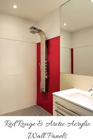 Acrylic Bathroom Wall Panels Adding Color With Shower Wall Panels And Glass Blocks