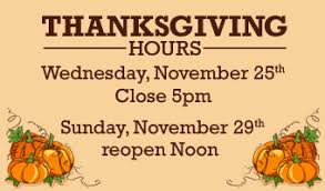 thanksgiving schedule uncw randall library