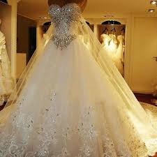 wedding dresses for rent luxurious crystals tulle bridal gown neck lace