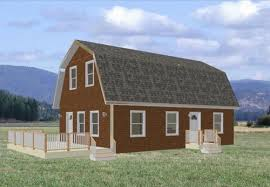 gambrel house plans 24 x 36 x 8 2 story barn workshop e cabin plans