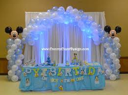 mickey mouse balloon decor 1st birthday www encoreeventdesign