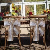 burlap chair sash wholesale burlap wedding chair sashes buy cheap burlap wedding