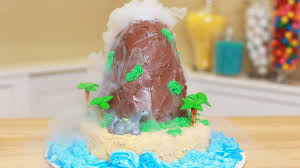 how to make a volcano cake nerdy nummies youtube