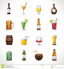 alcoholic drinks clipart alcohol drinks polygonal icons stock vector image 54564621