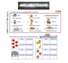 Free Adjective Worksheets Worksheet Kids English For Trace Alphabet Worksheets Kindergarten