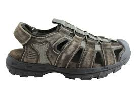skechers mens garver selmo mens comfortable memory foam sandals
