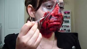 Walmart Halloween Makeup by Halloween Zipper Face 2 Youtube