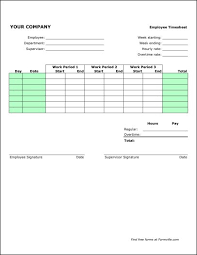 Excel Work Timesheet Template Free Weekly Timesheet Portrait From Formville