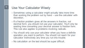 the act math test useful strategies use your calculator wisely