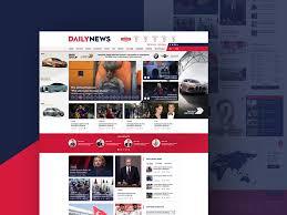 design magazine site dailynews free news site ui design 72pxdesigns