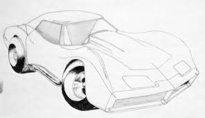 vintage corvette drawing more art from the 80s scary reasoner