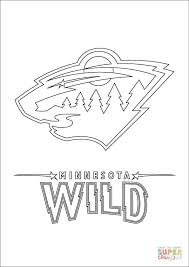minnesota wild logo coloring free printable coloring pages