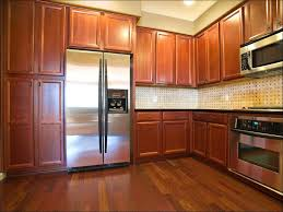 Refinishing Kitchen Cabinets With Stain Kitchen Staining Kitchen Cabinets Before And After Spray Paint