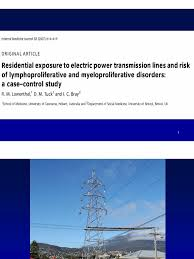 residential exposure to electric power lines and risk of various