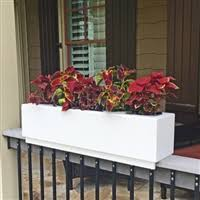 deck patio and balcony rail top planters