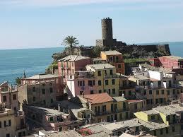 vernazza castle village sea vernazza