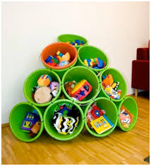Toy Organization Toy Storage Dollar Store Buckets Drill Holes And Zip Tie