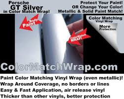 porsche paint colors in vinyl wrap gt silver m7z matching vinyl