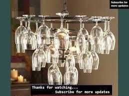 hanging wine glass ideas wine glass rack youtube