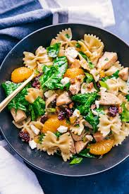 creamy pasta salad recipe creamy spinach pasta salad with chicken the food cafe just say yum