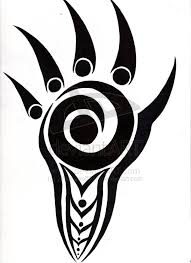 tribal paw print tattoo sample real photo pictures images and