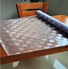 walmart dining room table pads clear table protector waterproof clear tablecloth protector table