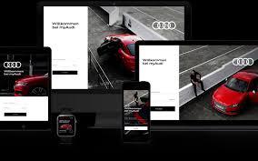 first audi logo digital first strichpunkt design