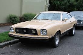 ford mustang 77 parked cars 1977 ford mustang ii mach i on the malaise mile