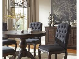 signature design by ashley trudell solid wood pine round dining
