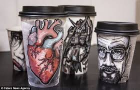 coffee cup designs graphic designer miguel cardona turns his takeaway coffee cups