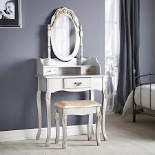 Vintage Style Vanity Table Beautify Vintage Style Silver Dressing Table Mirror Stool