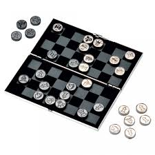 travel chess set images Travel chess and draughts set silver plated chess set tartan jpg