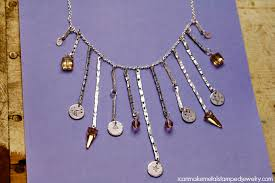 necklace wire images Stamped aluminum wire necklace i can make metal stamped jewelry jpg