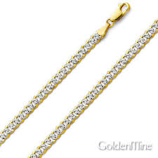 curb link chain necklace images 4mm 14k two tone gold men 39 s white pave curb cuban link chain jpg