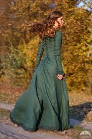 fantasy linen dress
