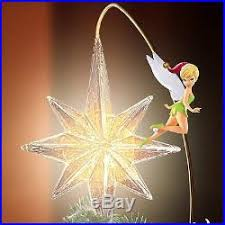 disney tree topper lighted moving tinker bell mickey vintage
