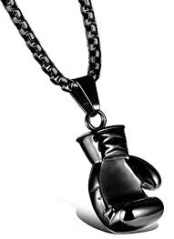 necklace black men images Nackiy couples punk stainless steel boxing glove chain pendant jpg